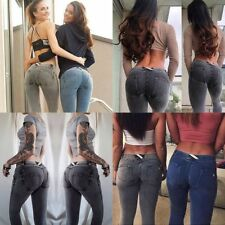 Women Push Up Demin Jeans Sexy Hip Freddy Skinny Trousers Tight Fit Pencil Pants