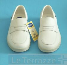 Dr scholl Tower shoes white leather loafers slippers sabot discount 20% vintage