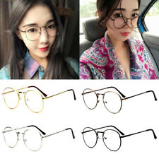 Unisex Men Women Nerd Glasses Clear Lens Eyewear Retro Fashion Metal Frame