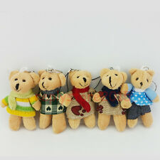 3.5'' Lovely Teddy Plush Bear Doll Keyring Bag Purse Key Chain Ring Gift New #