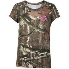 Mossy Oak Break-up Infinity Youth Girls' Camo Short Sleeve Shirts: S-XL