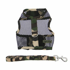 Camouflage Cool Mesh Netted Dog Harness & Leash