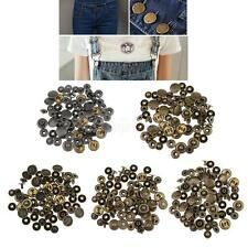 20 Sets Brass Metal Snap Fastener Leather Rapid Rivet Button Sewing Crafts 15mm