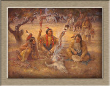 Oil Painting HD Canvas Print/Modern Art Decorative Indian tribe