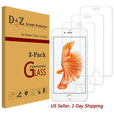 3Pcs Premium Real Tempered Glass Screen Protector for Apple iPhone 6/6s/7 Plus