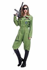 Sexy Army Girl Military Costume Role Play Lingerie Special Halloween Dress 9249