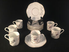 Lot of 6 Small Floral Print Cup & Saucer Sets (12 Pieces)