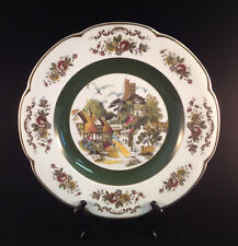 """Ascot Service Plate by Wood and Sons England Alpine White Ironstone 10.5"""" Plate"""