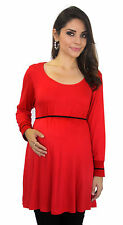 Red Black Maternity Long Sleeve 3/4 Sleeve Maternity Pregnancy Top S M L XL
