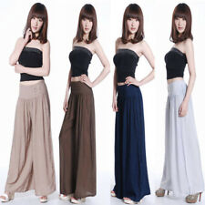 Trendy Summer Women Casual Flare Loose Long Pants Cotton Blend Harem Trousers