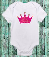 Little Sister Princess Crown Cute Pink Baby Girl Clothes Onesie Baby Shower Gift