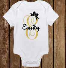 Unique Sparkle Custom Name Cute Baby Girl Clothes Bodysuit Onesie Personalized