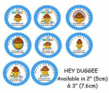 HEY DUGGEE Personalised Self Adhesive Glossy Labels/Stickers