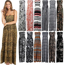 Women's Printed Sheering Maxi Ladies Boobtube Bandeau Dress Printed Sheering Top