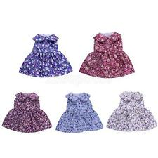 Dolls Skirt Dress Sleeveless Floral Printed Clothes for 18'' American Girl Doll