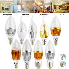 LED Candle Light 6W 9W 12W E14 E27 Warm Cool White Lamp Chandelier Bulb Dimmable