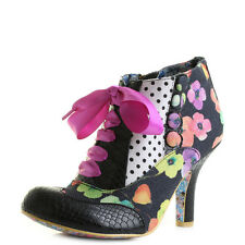 Womens Irregular Choice Blair Elfglow Black White Lace Up Ankle Boots Shu Size