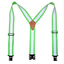 New Perry Suspenders Big & Tall Elastic Hook End Reflective Suspenders