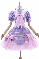 m-3101 purple pink Bix Gothic Lolita Cosplay dress costume