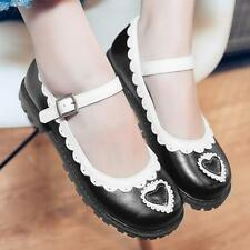 Mary Jane Womens Buckle Strap Lolita Low Heels Cute Shoes College Pump 0.879.752