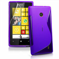 New S Line Wave Gel Case Cover For Nokia Lumia 520 Phone & Free Screen Protector