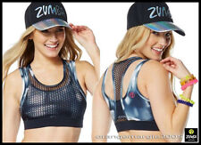 ZUMBA Hot in Here Mesh Bra Top (with Zumba Logo in Pink Accent) Flattering Fab