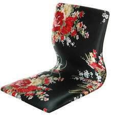 Meditation Backrest Chair in Black and Red Hibiscus Pattern [ID 3294320]