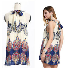NEW Womens Holiday Mini Beach Dress Ladies Summer Sun Dress Beachwear Size 6-16