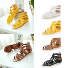 Summer Holiday Hollow Toe Beach Shoes Rome Sandals Women Fashion Flat Size 2-5