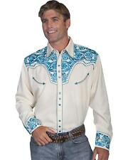 Scully Men's Floral Embroidered Western Shirt - P-634-CHO