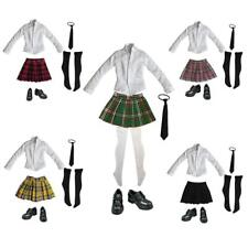 "1/6 Schoolgirl Students Uniform & Leather Shoes Set for 12"" inch Action Figure"