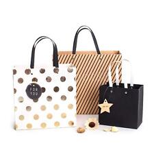 5xVintage Dots&Stripes Paper Bags Birthday Gift &Party Favors Bags Carrier Bags
