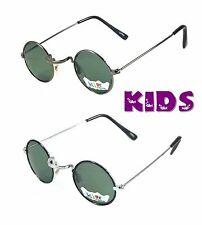 KIDS RETRO SUNGLASSES CHILDREN SUPER COOL STYLE BOYS GIRLS AGE 1-3 ROUND FRAME