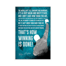 Famous Rocky Balboa Movie Quote Wall Poster Prints Room Decor Film Gloss Picture