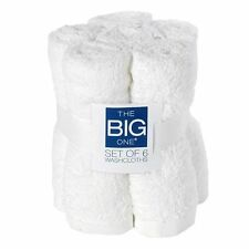 NWT!!! The Big One Washcloths White 6 pack 100% Cotton