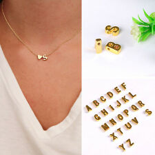 Womens Pendant 26 Letter Heart-shaped Necklace Costume Jewellery Alphabet Chain