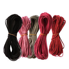 5pcs Mixed Color 2.6mm Flat Faux Suede Velvet Leather Cord DIY Rope Threads