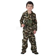 Kid Boys Army Soldier Costume Uniform Child Party Fancy Dress Outfit Camo