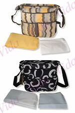 Baby Changing Bag with Padded Change Mat, Messy Bag & Thermal Bottle Compartment