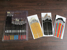 Artist Paint Brushes Suit Hobby Craft Warhammer 40k Airfix Models Choice Of Sets
