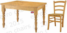 PINE DINING TABLE & CHAIRS | PINE DINING SET | WAXED PINE TABLE & FOUR CHAIRS