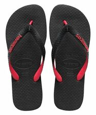 Havaianas Mens Top Mix Flip Flop,Black/Grey/Red size 43-44 and 45-46(9-13US size