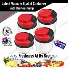 Airtight Vacuum Pump Sealed Kitchen Storage Container Set Canister Bag Stackable