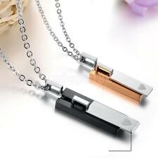 Romantic 316L Stainless Steel Lover's Couple Pendant Necklace Valentine's Gifts