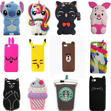 For iphone 4G 4S Case Cute Animals New 3D Cartoon Soft Silicone Cover Back Skin