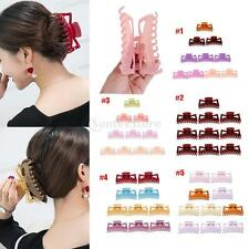 10Pcs Mixed Color Plastic Hairpin Hair Claws Clamp Hair Clip For Ladies Women