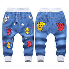 Toddler Baby Girls Boys Trousers Cartoon Trousers Fashion Baby Jeans Summer New