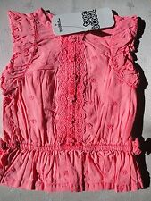 Baby Girls Coral Pink Top - NEW - Ages 3mth 6mth 9mth 12mth 18mth 23mth
