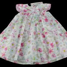 BNWT BABALUNO Baby Girls Floral Ocassion Party Wedding Dress 12-18-24 m