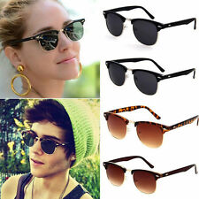 Polarized Clubmaster Mens Womens Unisex Retro Vintage Sunglasses Eyewear Shades